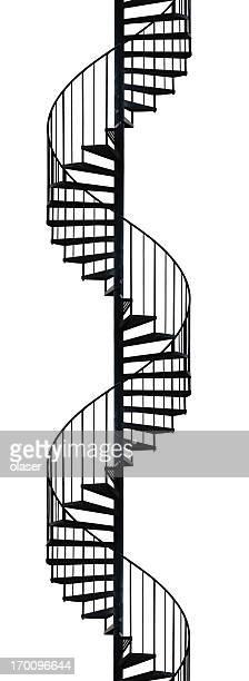 シルエットのらせん階段