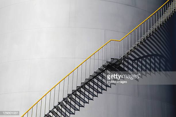 Silhouette of stairs on silo