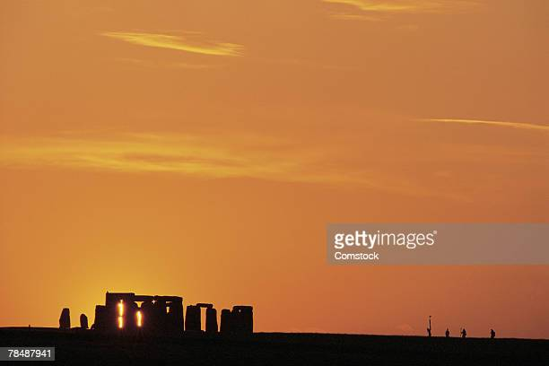 Silhouette of Stonehenge in England