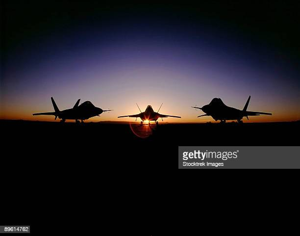 Silhouette of the F-22 Raptor