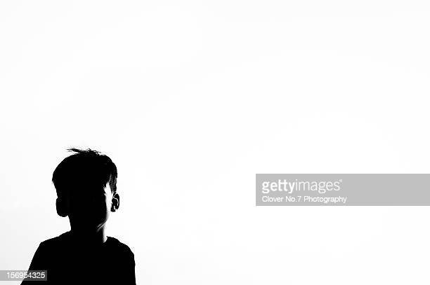 Silhouette of the little boy