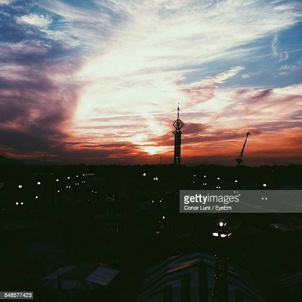 silhouette of tower at dusk - conor stock pictures, royalty-free photos & images
