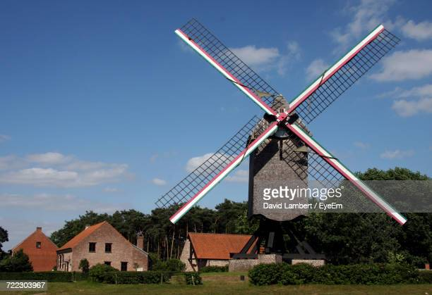 Silhouette Of Traditional Windmill