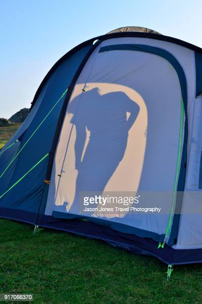 Silhouette on a tent
