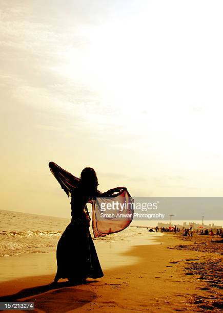 silhouette - belly dancing stock photos and pictures