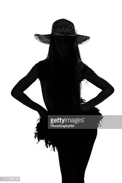 silhouette - burlesque striptease stock-fotos und bilder