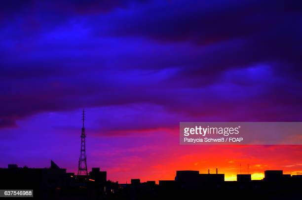 Silhouette view of berlin city