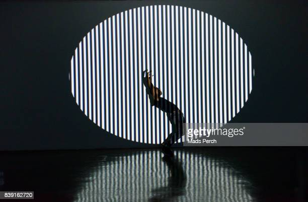Silhouetted Dancer with Abstract lighting