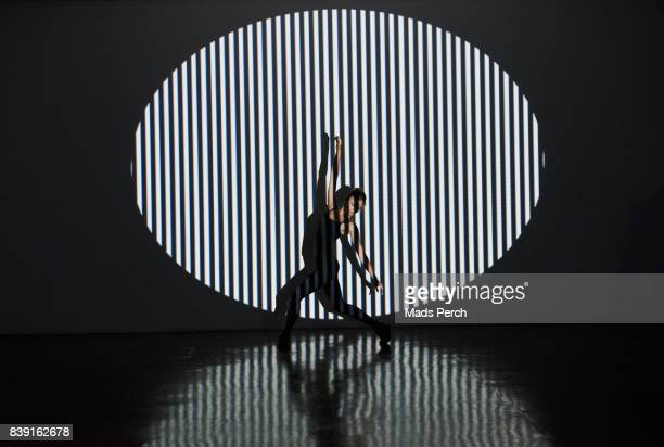 Silhouetted Girl with Abstract lighting