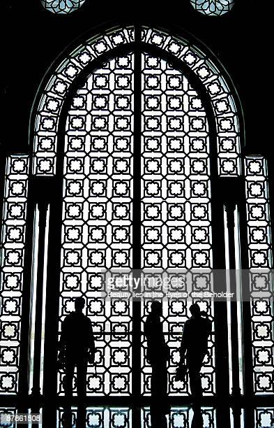 Silhouettes of People & Architecture
