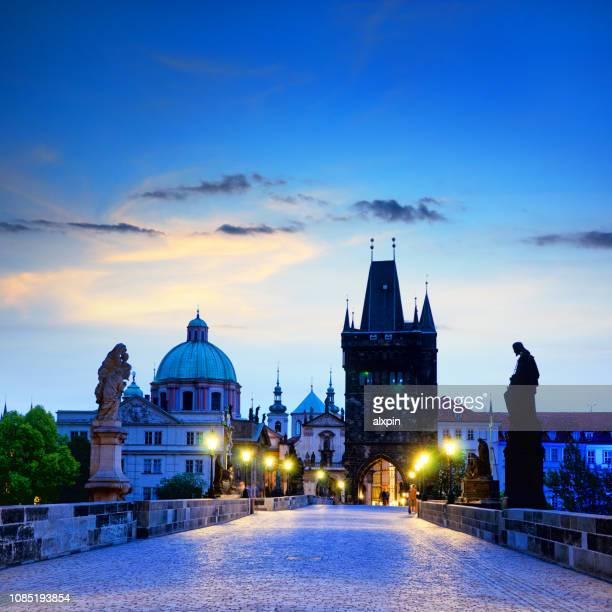 silhouettes of prague - bohemia czech republic stock pictures, royalty-free photos & images