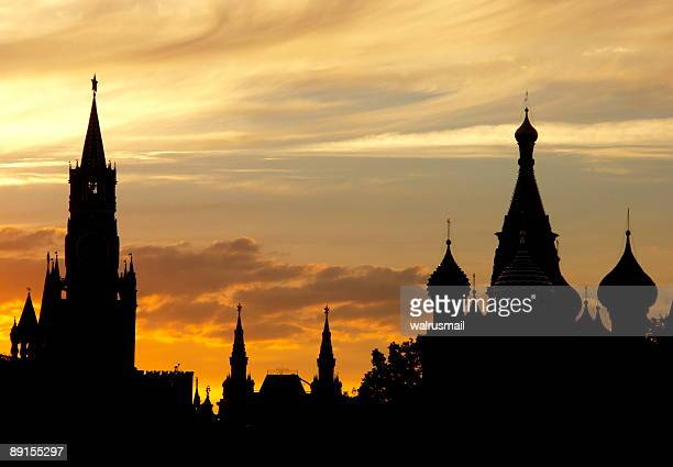 Silhouettes of the Moscow Kremlin