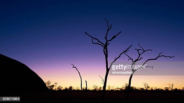 Silhouettes Of Uluru