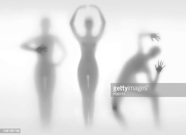 Silhouettes de femmes dans des Positions