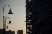 Silhouettes & Struxctures of Chelsea Waterfront. Sunrise, Sunset, Dusk & Dawn