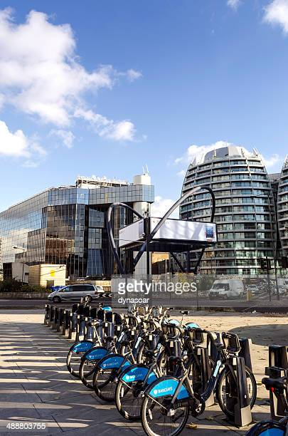 silicon roundabout, london tech city - shoreditch stock photos and pictures