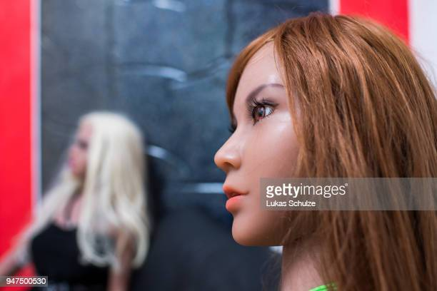 Silicon sex dolls for sexual encounters sitting at the Bordoll brothel on April 17 2019 in Dortmund Germany Bordoll is Germany's first brothel to...