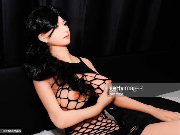 Silicon sex dolls for sexual encounters sitting at the 'Sex-doll' brothel on August 31, 2018 in Turin, Italy. The first italian sex-doll brothel will...