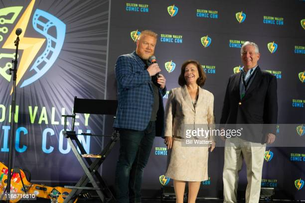 Silicon Valley Comic Con CoFounder Rick White and Princess Katherine and Serbian Crown Prince Alexander speak at the Silicon Valley Comic Con at the...