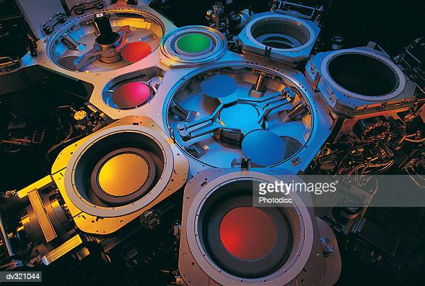 silicon wafer manufacturing - wafer processing machine stock photos and pictures