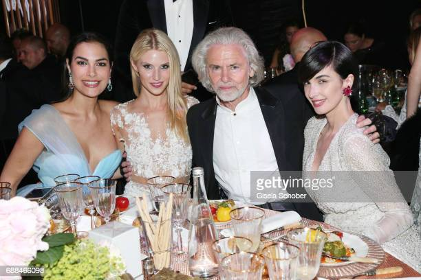 Silja Litvin Stefanie Seiffert amfAR vicechairman Hermann Buehlbecker and Paz Vega attend the amfAR Gala Cannes 2017 at Hotel du CapEdenRoc on May 25...