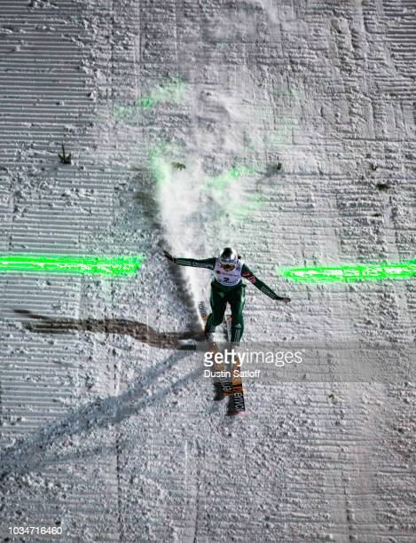 Silje Opseth of Norway competes in the Women's Ski Jumping HS100 during the FIS Nordic World Ski Championships on February 24 2017 in Lahti Finland