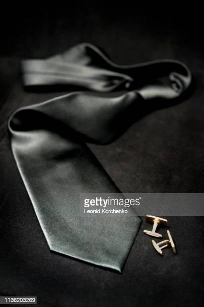 silk black tie - menswear ストックフォトと画像