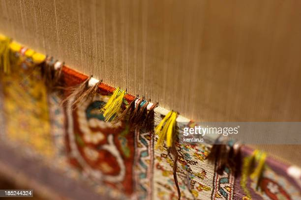 silk carpet - loom stock pictures, royalty-free photos & images