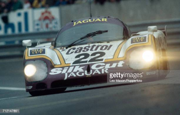 A Silk Cut Jaguar XJR9LM 70L V12 driven to a 4th place finish by Derek Daly of Ireland Kevin Cogan of United States and Larry Perkins of Australia...