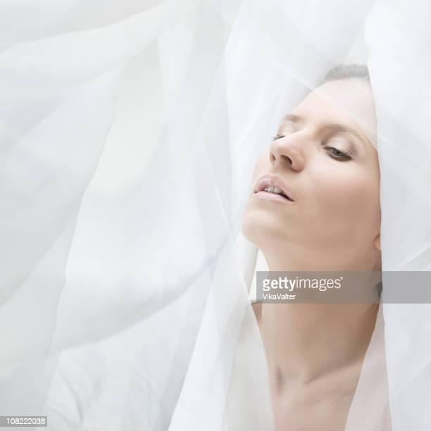 rosto de seda - wedding veil imagens e fotografias de stock