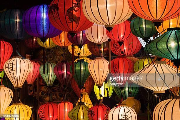 Silk lanterns in Hoi An city, Vietnam