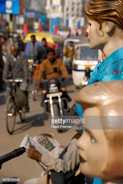 Silk market in Varanasi Uttar Pradesh India