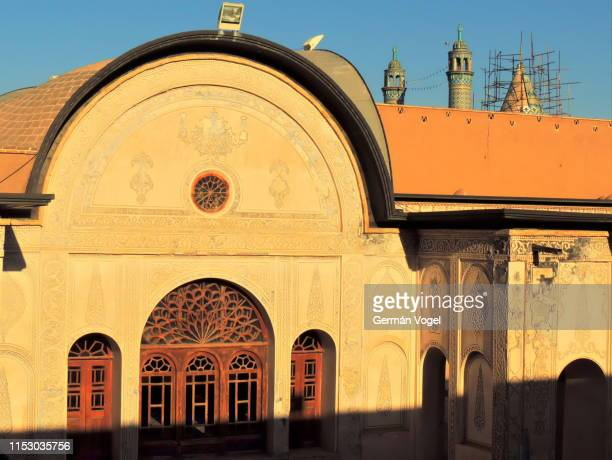silk road palace facade in kashan, iran - vogel stock pictures, royalty-free photos & images