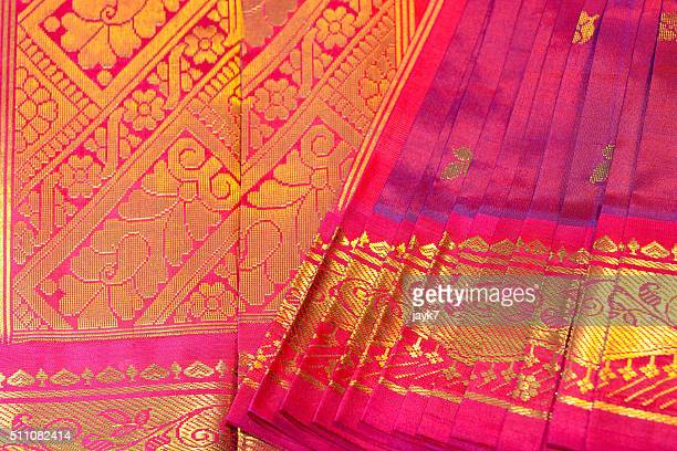 silk sari - sari stock pictures, royalty-free photos & images