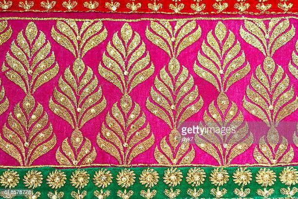silk sari - sari fotografías e imágenes de stock