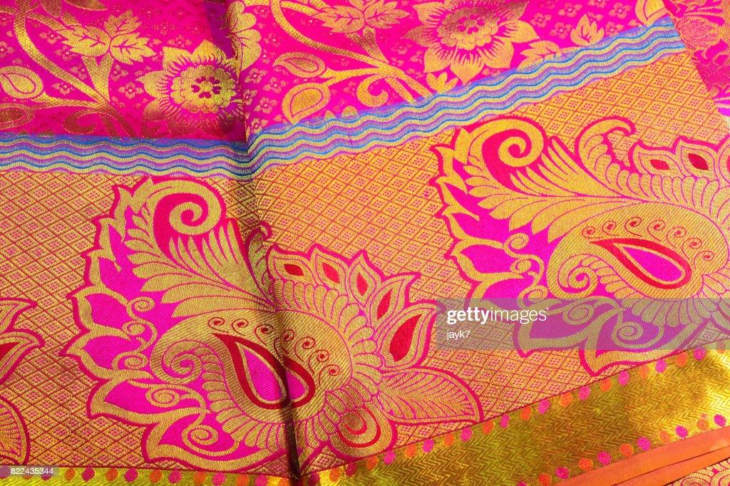 Silk Sari : Foto de stock
