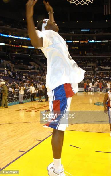 Silk the Shocker during 18th Annual A Midsummer Night's Magic Weekend All-Star Basketball Game at Staples Center in Los Angeles, California, United...