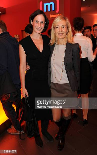 Silke Gelhaus and Judith Milberg attend 'Too Big to Fail' preview screening of German Pay TV channel TNT Film at Mathaeser Filmpalast on November 23...