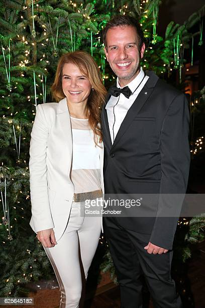 Silke Popp and Florian Stadler during the christmas party at Hotel Vier Jahreszeiten Kempinski on November 24 2016 in Munich Germany