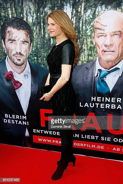 Silke Popp attends the Munich premiere of the film 'Frauen' at Sendlinger Tor Kino on April 25 2016 in Munich Germany