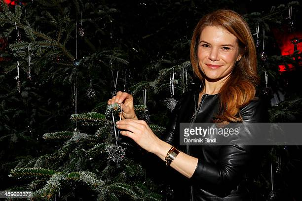 Silke Popp attends the Swarovski Christmas Party 2014 at Hotel Vier Jahreszeiten on November 27 2014 in Munich Germany
