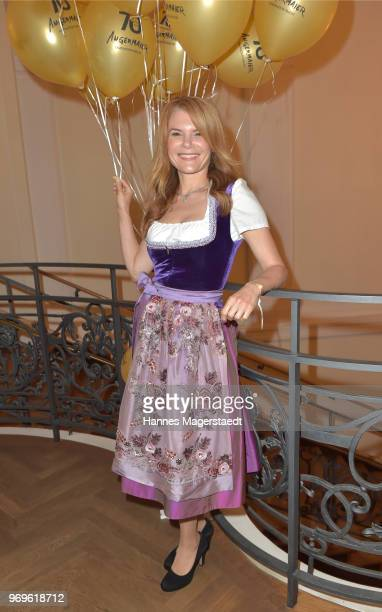 Silke Popp during the 70th anniversary celebration of the clothing company Angermaier at Deutsches Theatre on June 7 2018 in Munich Germany