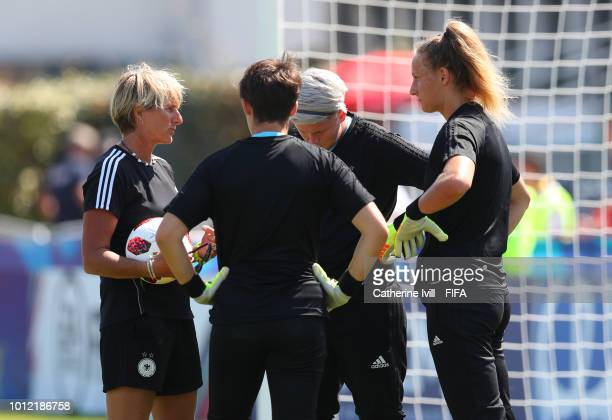 Silke Rottenberg goalkeeping coach of Germany before the FIFA U20 Women's World Cup France 2018 group D match between Nigeria and Germany at on...