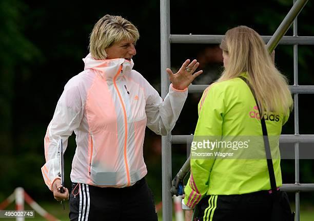 Silke Rottenberg looks on during the U14 girls federal cup at Sportschule Wedau on June 1 2014 in Duisburg Germany
