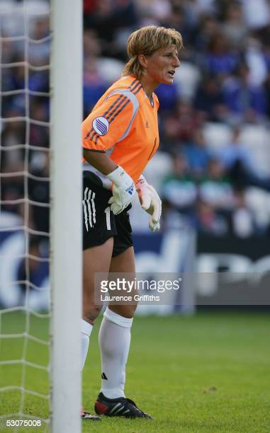 Silke Rottenberg of Germany stands in goal during the UEFA Women's Europen Championship Semi Fianal match between Germany and Finland at Deepdale on...