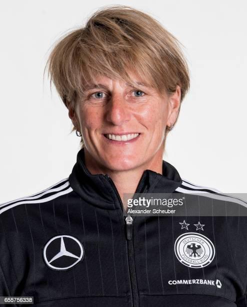Silke Rottenberg poses during germany U17 girl's team presentation on March 20 2017 in Grunberg Germany