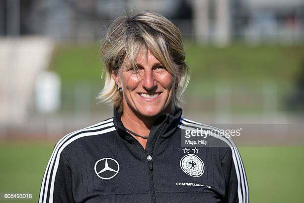 Silke Rottenberg poses during the Germany Women's U20 team presentation on September 13 2016 in Duesseldorf Germany
