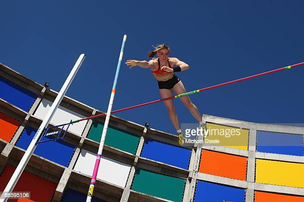 Silke Spiegelburg of Germany in action during the women's pole vault during day one of the Spar European Team Championships at the Estadio Municipal...