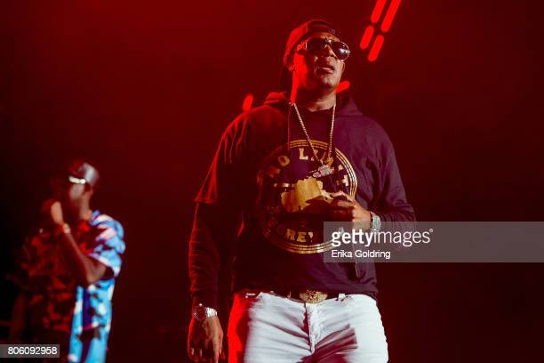 Silkk The Shocker and Master P perform onstage at the 2017 ESSENCE Festival Presented By Coca Cola at the Mercedes-Benz Superdome on July 2, 2017 in...