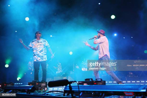 Silkk The Shocker and Mystikal perform onstage at the 2017 ESSENCE Festival Presented By Coca Cola at the Mercedes-Benz Superdome on July 2, 2017 in...